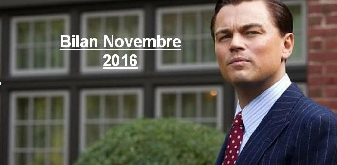 Bilan des Paris – Novembre 2016