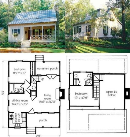 Adorable Cabin Style Ideas For Small House 29