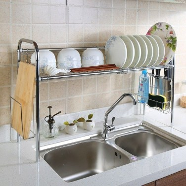 Beautiful Dish Rack Ideas For Your Small Kitchen 32