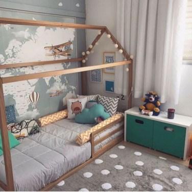 Smart Montessori Ideas For Baby Bedroom 23