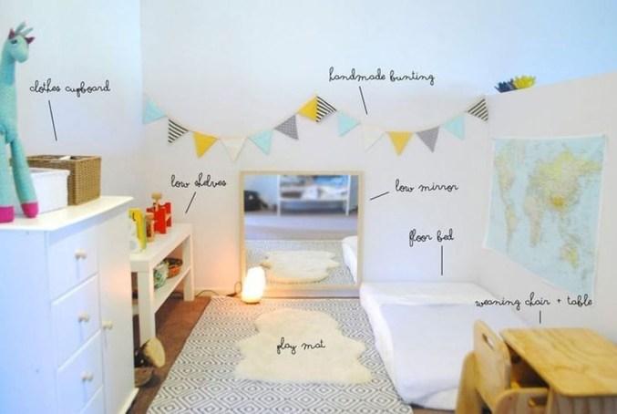 Smart Montessori Ideas For Baby Bedroom 38