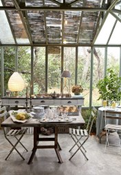 Wonderful Outdoor Dining Room Ideas With Rural Style 01