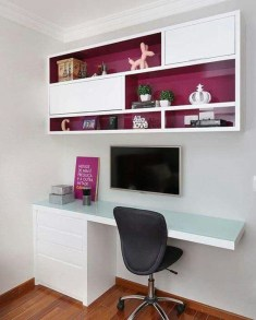 Charming Home Office Cabinet Design Ideas For Easy Storage 11