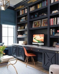 Charming Home Office Cabinet Design Ideas For Easy Storage 14