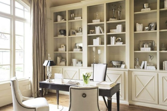 Charming Home Office Cabinet Design Ideas For Easy Storage 17