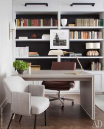 Charming Home Office Cabinet Design Ideas For Easy Storage 22