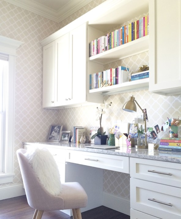 Charming Home Office Cabinet Design Ideas For Easy Storage 25