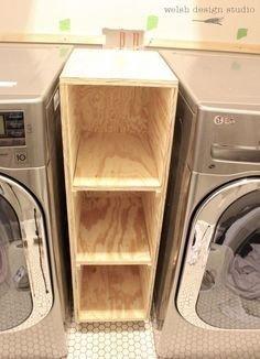 Cozy Laundry Room Storage Design Ideas 05