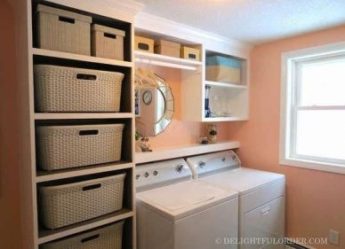 Cozy Laundry Room Storage Design Ideas 13