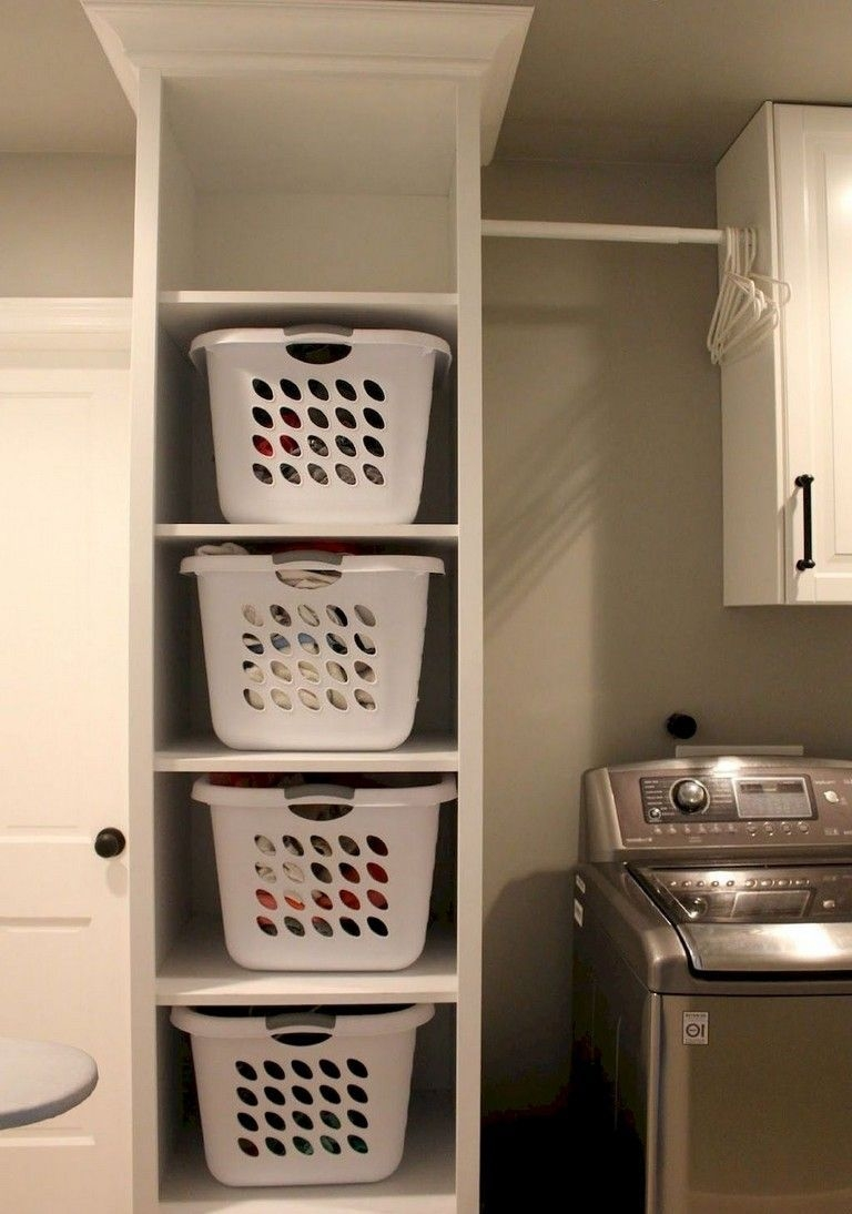Cozy Laundry Room Storage Design Ideas 43