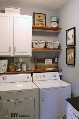 Cozy Laundry Room Storage Design Ideas 44