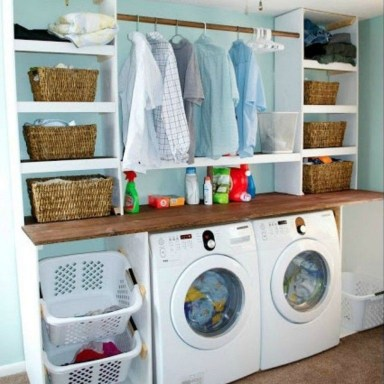 Fabulous Functional Laundry Room Decoration Ideas On A Budget 24