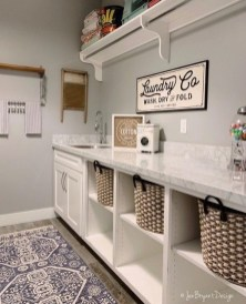 Fabulous Functional Laundry Room Decoration Ideas On A Budget 46