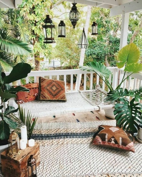 Latest Home Patio Design With Hanging Plants 10