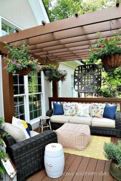 Latest Home Patio Design With Hanging Plants 17