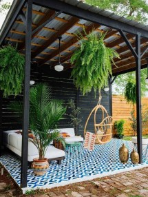 Latest Home Patio Design With Hanging Plants 35