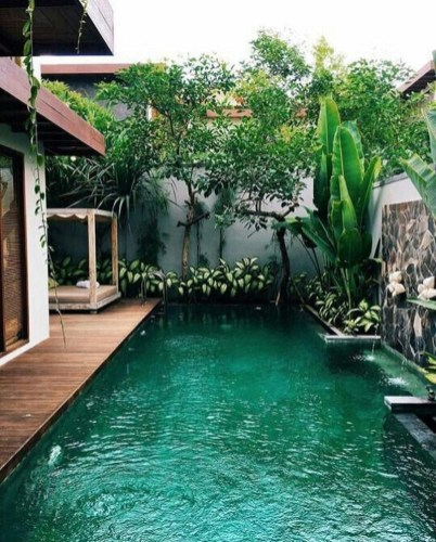 Perfect Backyard Home Design Ideas With Swimming Pool 10