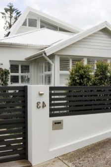Wonderful Front Yard Ideas With Contemporary Fence 06