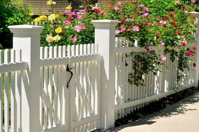 Wonderful Front Yard Ideas With Contemporary Fence 10