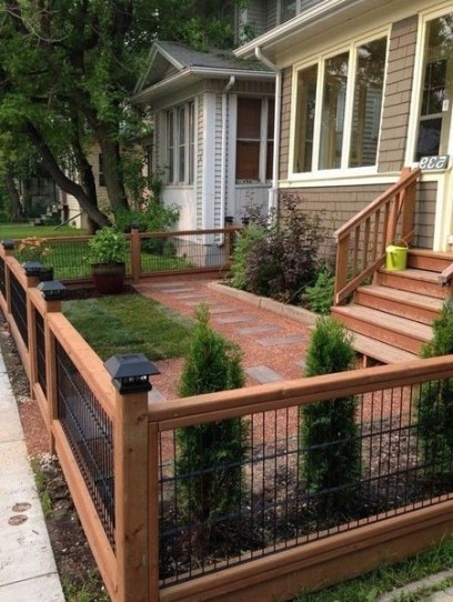 Wonderful Front Yard Ideas With Contemporary Fence 31
