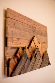 Chic Diy Pallet Wall Art Ideas To Try 36