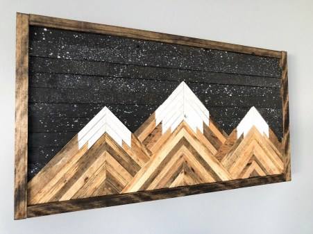 Chic Diy Pallet Wall Art Ideas To Try 37