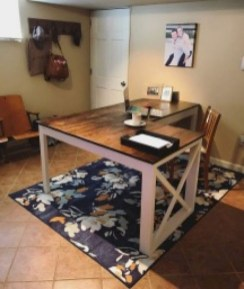 Creative Farmhouse Desk Ideas For The Home Office To Try 05