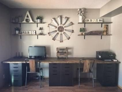 Creative Farmhouse Desk Ideas For The Home Office To Try 16