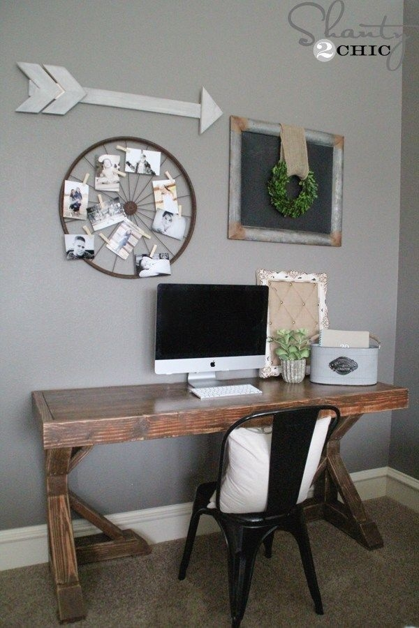 Creative Farmhouse Desk Ideas For The Home Office To Try 44