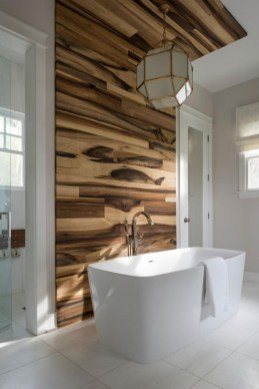 Elegant Bathroom Remodel Ideas With Stikwood That Looks Cool 06