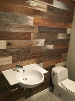 Elegant Bathroom Remodel Ideas With Stikwood That Looks Cool 07