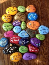 Fascinating Painted Rocks Quotes Design Ideas 13