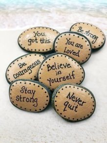 Fascinating Painted Rocks Quotes Design Ideas 21