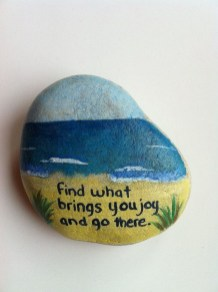 Fascinating Painted Rocks Quotes Design Ideas 23