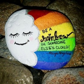 Fascinating Painted Rocks Quotes Design Ideas 39