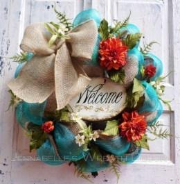Pretty Summer Wreaths Decor Ideas That Looks Cool 20