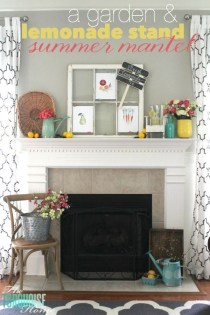 Unique Summer Mantel Decorating Ideas To Try 33