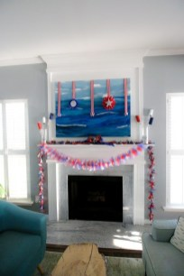 Unique Summer Mantel Decorating Ideas To Try 38