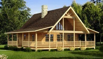 Wonderful Homes Plans Design Ideas With Log Cabin 09