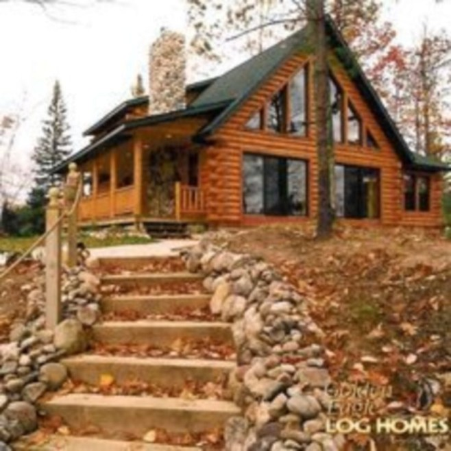 Wonderful Homes Plans Design Ideas With Log Cabin 26