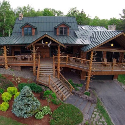 Wonderful Homes Plans Design Ideas With Log Cabin 30