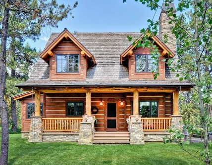 Wonderful Homes Plans Design Ideas With Log Cabin 31