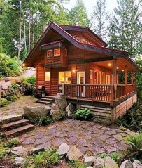 Wonderful Homes Plans Design Ideas With Log Cabin 40