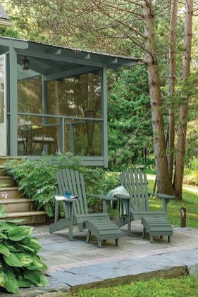 Adorable Green Porch Design Ideas For You 08