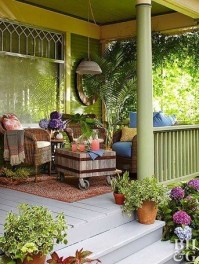 Adorable Green Porch Design Ideas For You 11