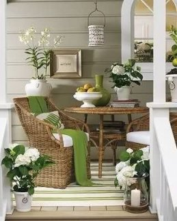 Adorable Green Porch Design Ideas For You 26