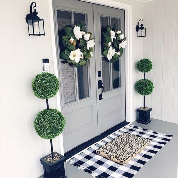 Adorable Green Porch Design Ideas For You 29