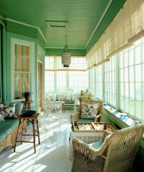 Adorable Green Porch Design Ideas For You 33