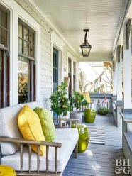 Adorable Green Porch Design Ideas For You 36