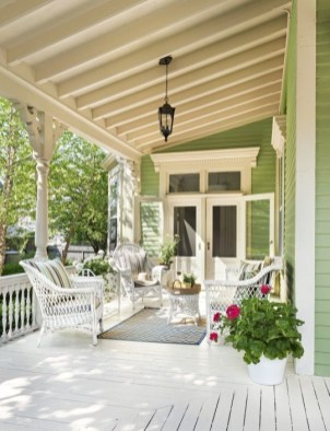 Adorable Green Porch Design Ideas For You 40